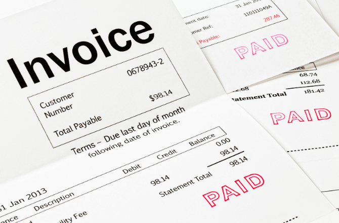 Set and create payment terms invoices